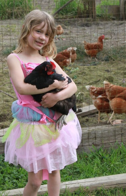 girl and chicken 16
